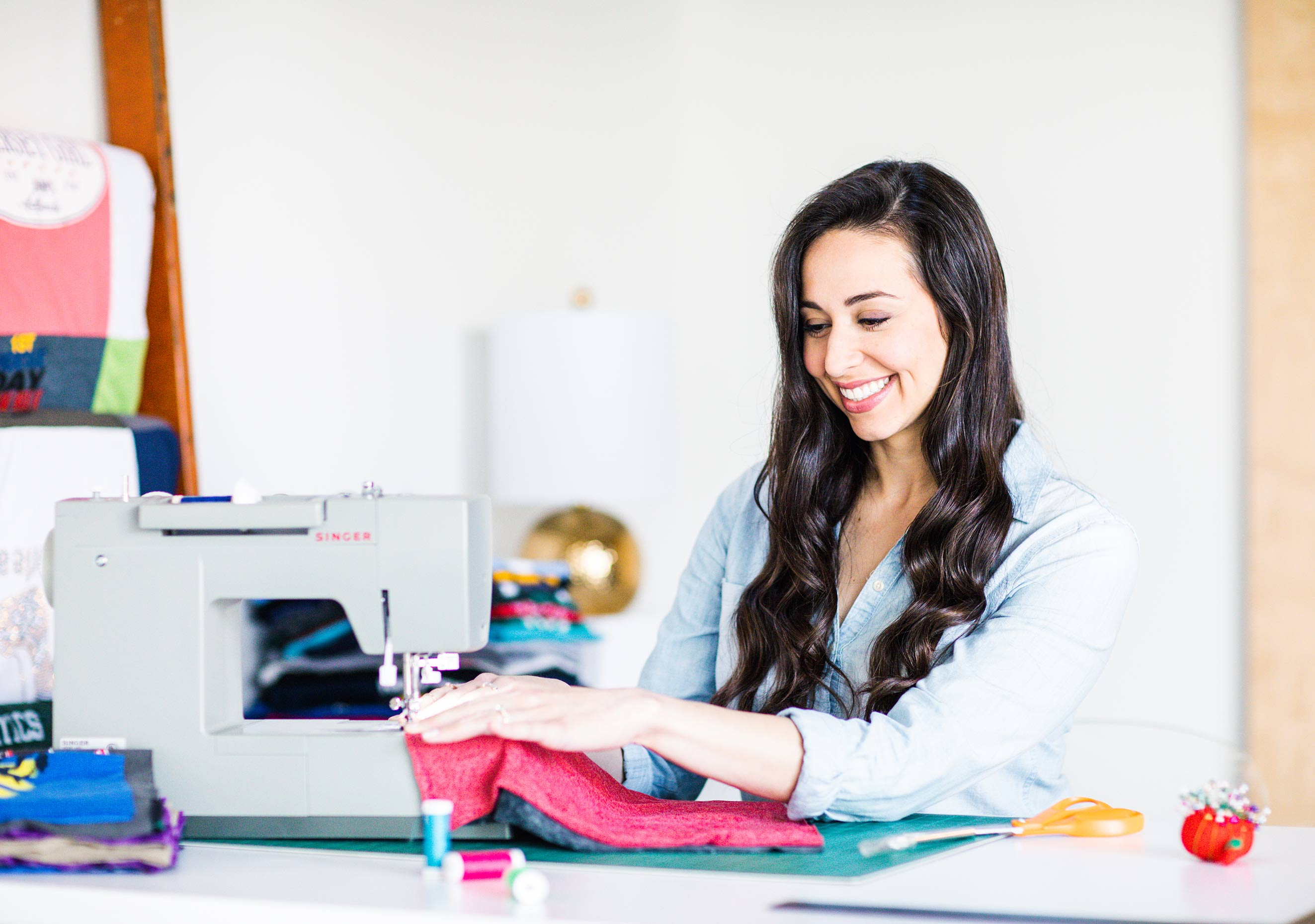 Memory Stitch sewing lifestyle product photography in Omaha, Nebraska by Dana Damewood Photography.